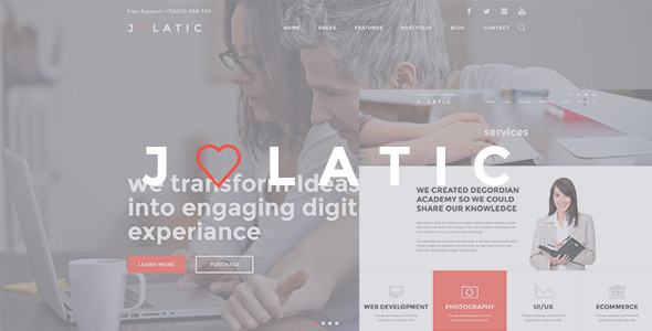 Julatic – Multi-Purpose PSD Template
