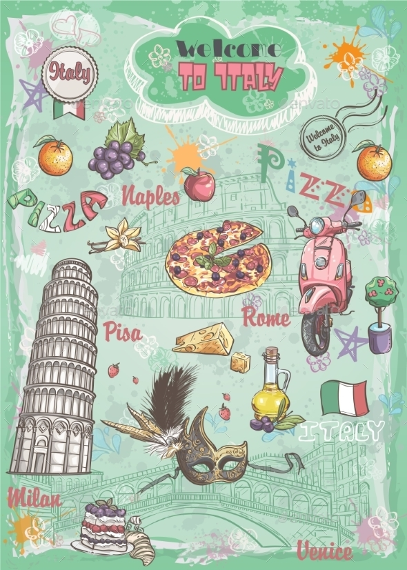 Italy Elements - Food Objects
