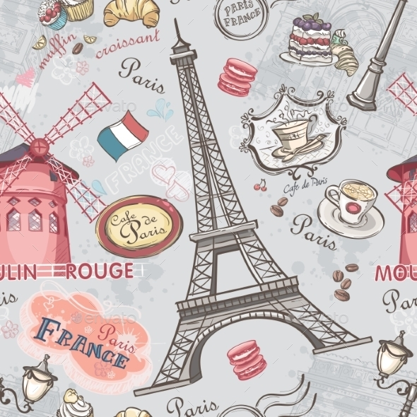 Paris Pattern - Travel Conceptual