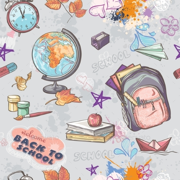 School Pattern - Travel Conceptual
