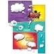 Comic Book Pages with Different Speech Bubbles - GraphicRiver Item for Sale