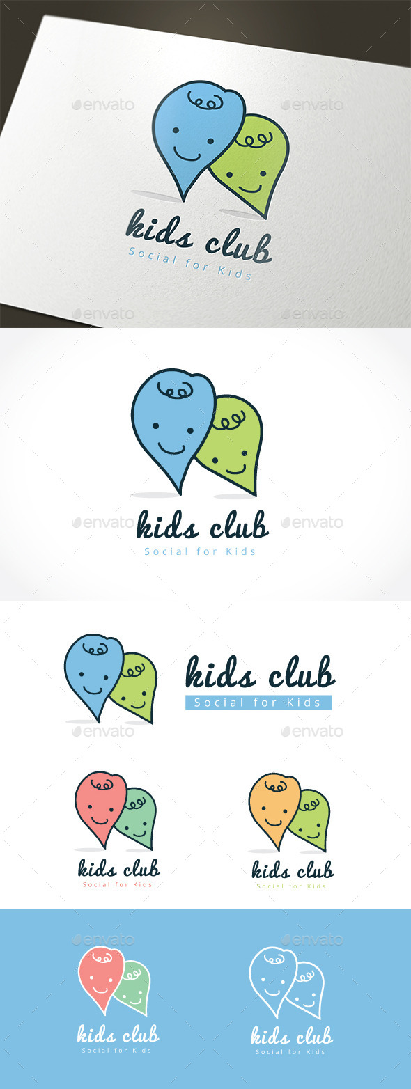 Kids Club - Humans Logo Templates