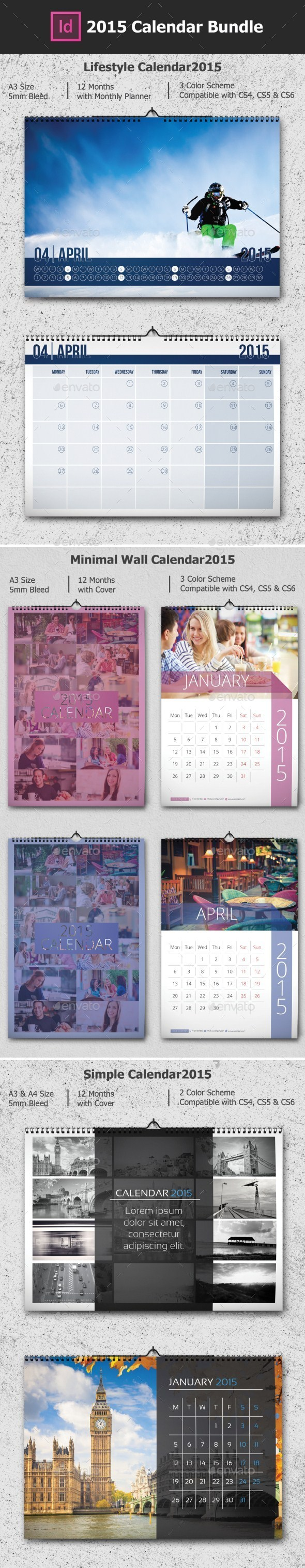 2015 Calendar Bundle - Calendars Stationery
