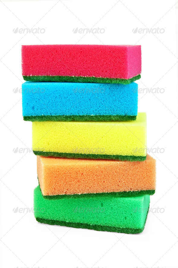A stack of sponges - Stock Photo - Images