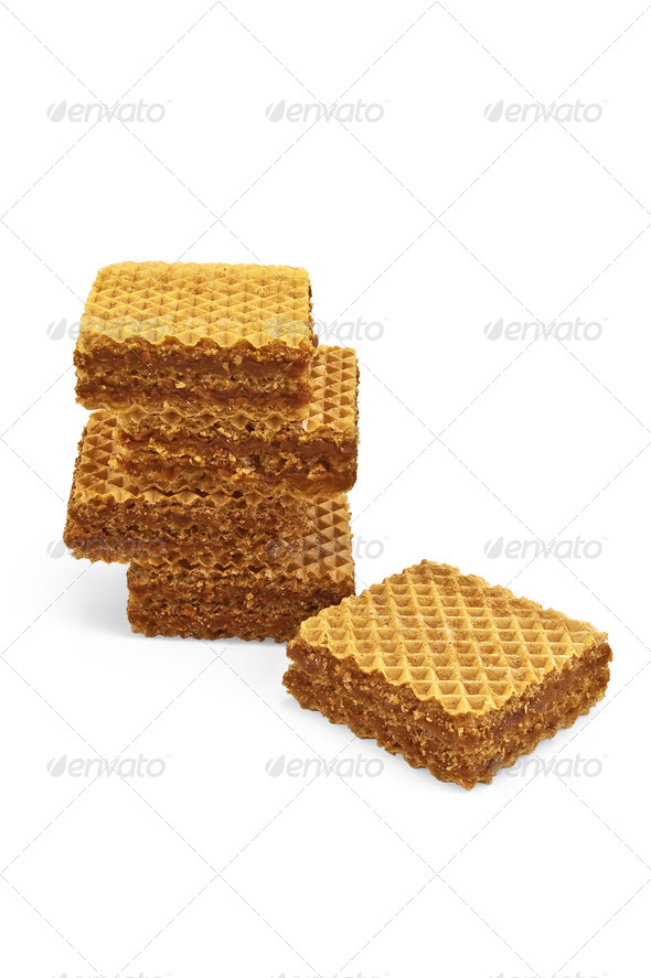 A stack of waffles - Stock Photo - Images