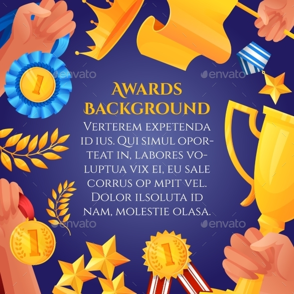 Award and Prizes Poster - Backgrounds Decorative