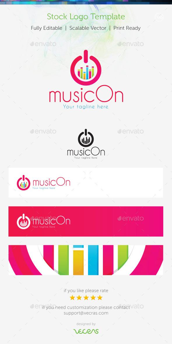 MusicOn  Stock Logo Template  - Symbols Logo Templates