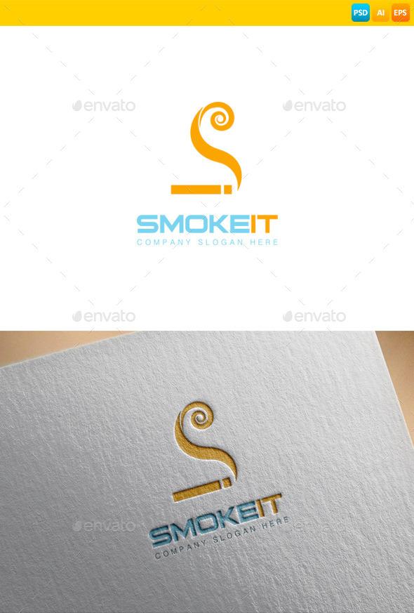 E Cigarette Logo - Vector Abstract