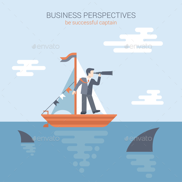Flat Style Business Perspective Concept - Concepts Business