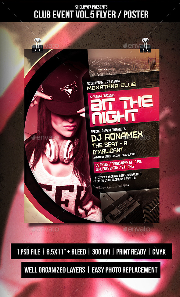 Club Event Flyer / Poster Vol.5 - Events Flyers