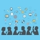 Flat People Silhouettes Brainstorming - GraphicRiver Item for Sale