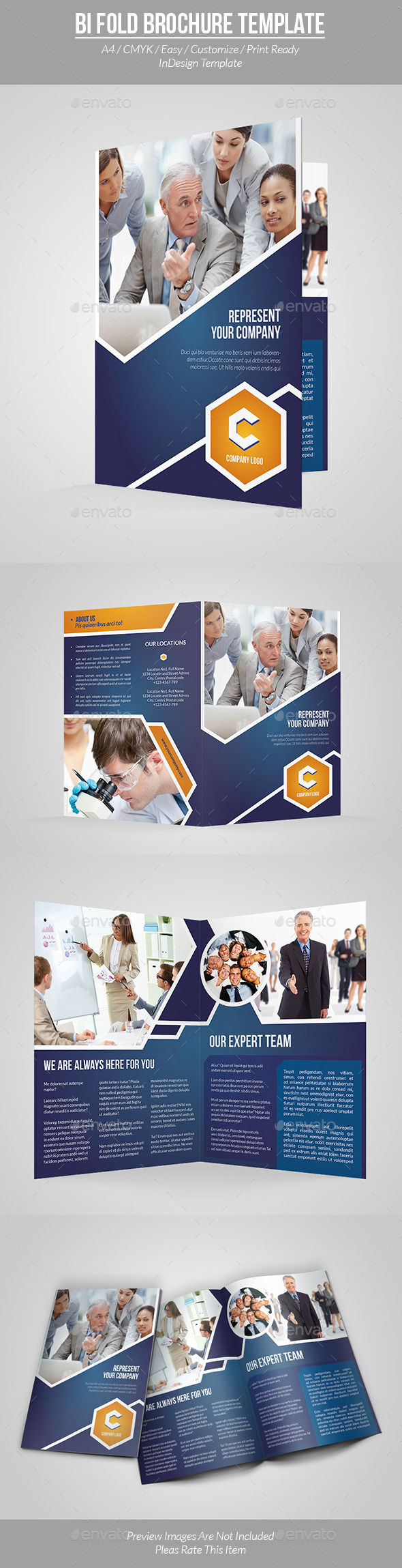 Bi Fold Brochure Template - Informational Brochures