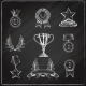 Award Icons Set Chalkboard - GraphicRiver Item for Sale