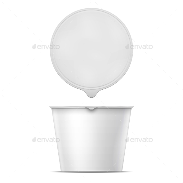 White Instant Noodles Bowl Template - Food Objects