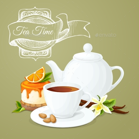 Tea Party Poster - Food Objects