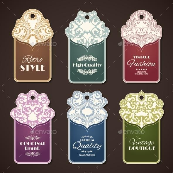 Vintage Labels Set - Decorative Vectors