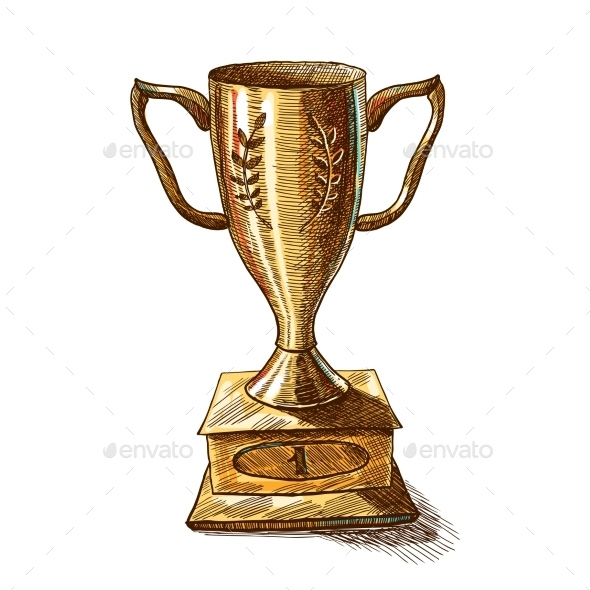 Golden Trophy Cup - Decorative Symbols Decorative
