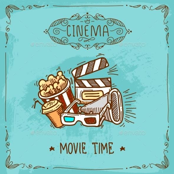 Cinema Poster Sketch - Decorative Vectors
