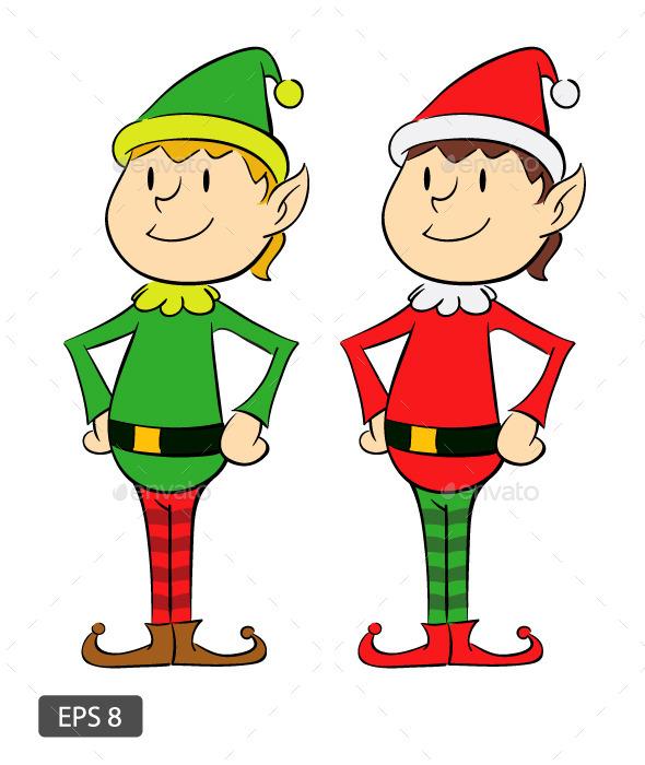 Two Christmas Elf - Christmas Seasons/Holidays