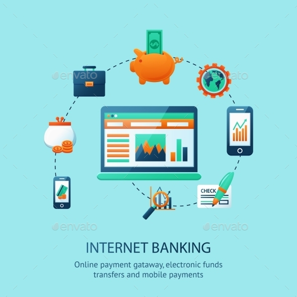 Internet Banking Poster - Business Conceptual