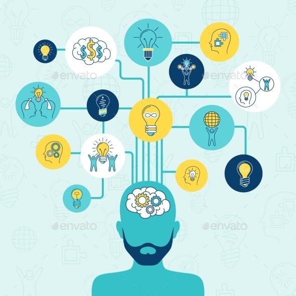 Idea Infographics Set - Technology Conceptual