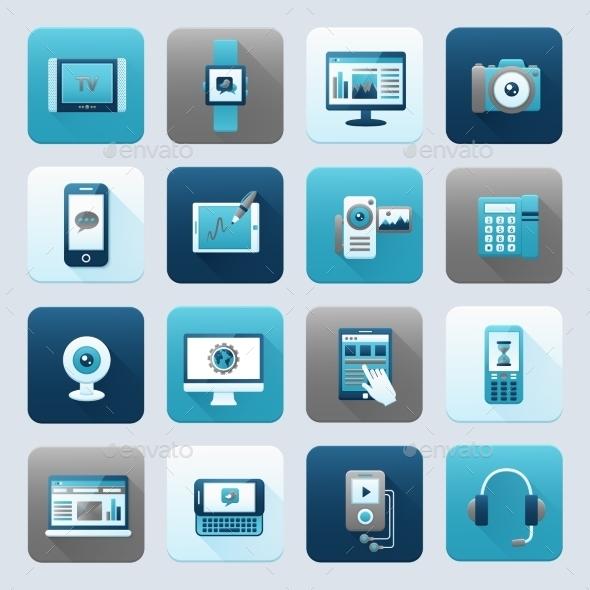 Internet and Mobile Device - Web Elements Vectors
