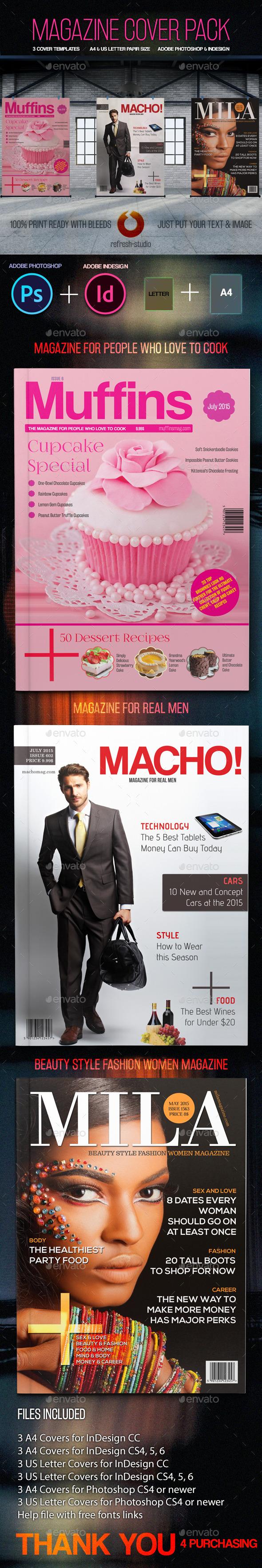 Magazine Covers - Magazines Print Templates