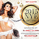 All in White New Year Party Flyer Template - GraphicRiver Item for Sale