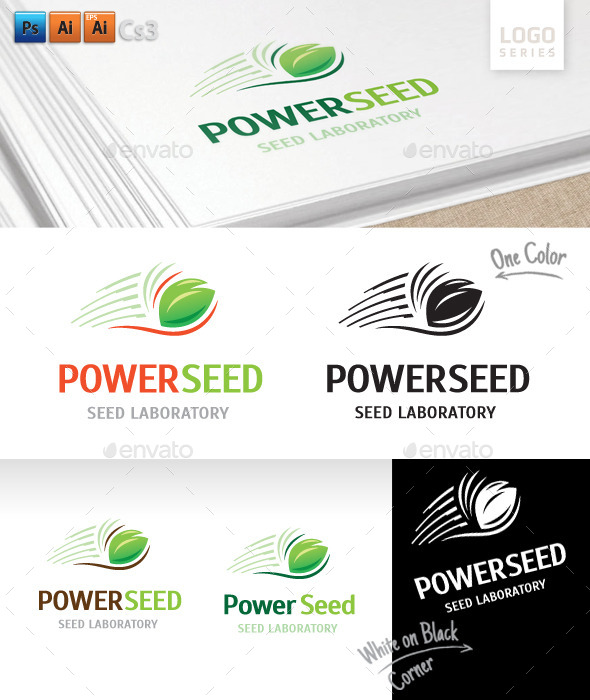 Power Seed Logo - Nature Logo Templates