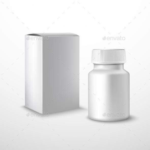 Blank Medicine Bottle - Health/Medicine Conceptual