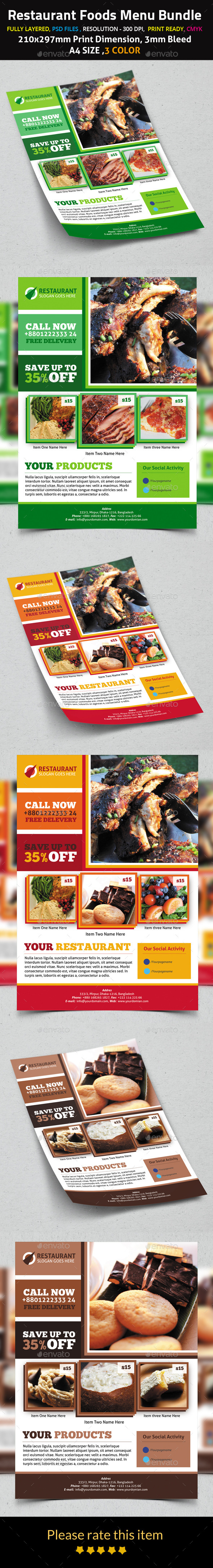 Products Foods Flyer Template - Corporate Flyers