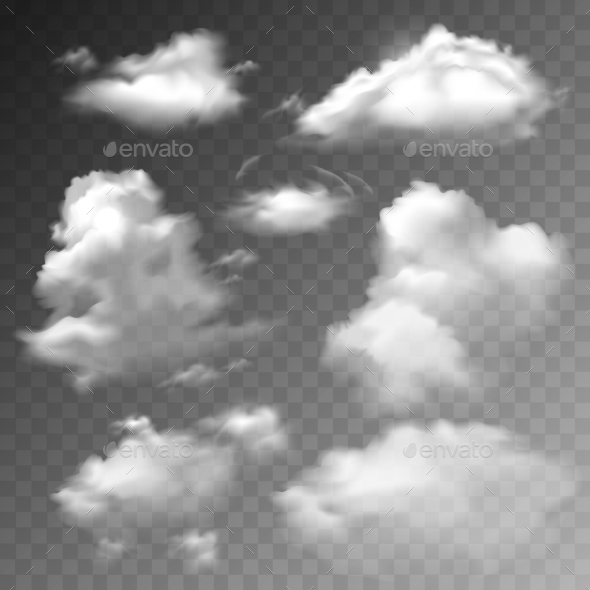 Transparent Clouds Set - Miscellaneous Vectors