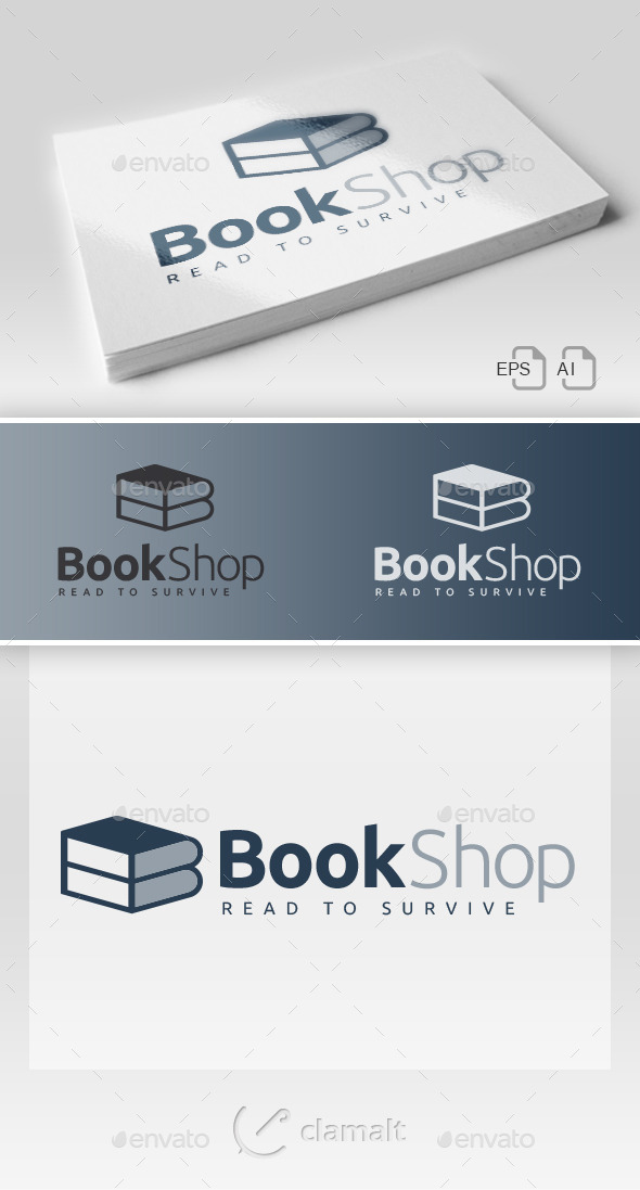 Book Shop Bis Logo - Symbols Logo Templates