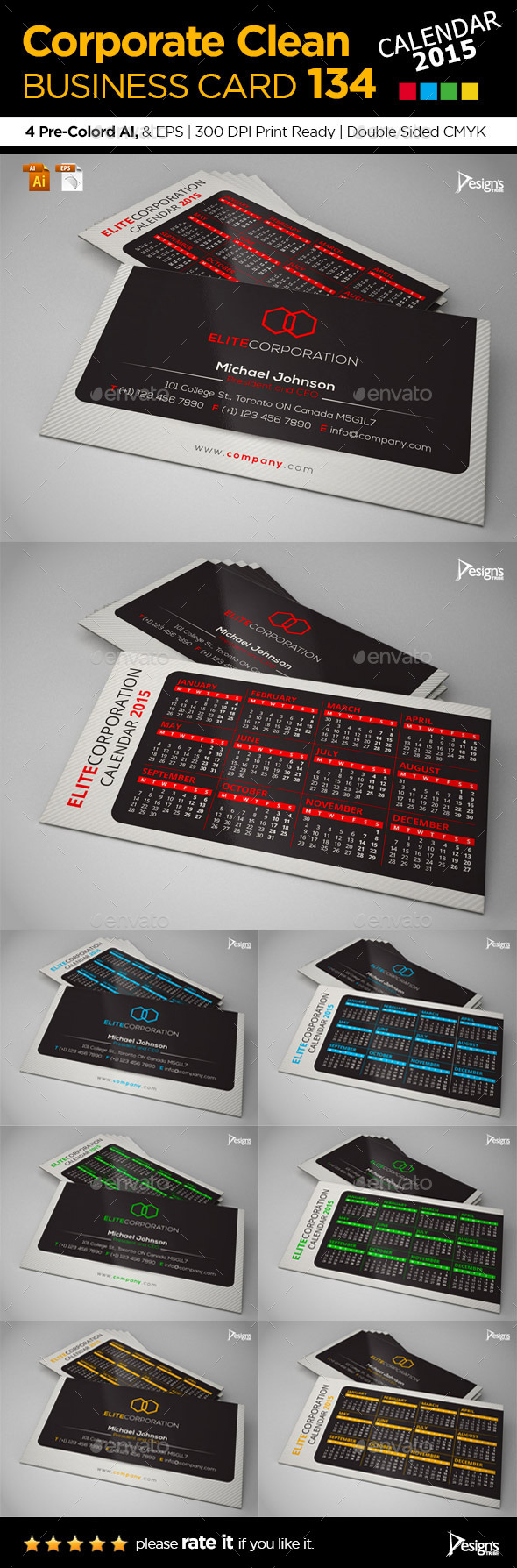 2015 Business Card - Corporate Business Cards