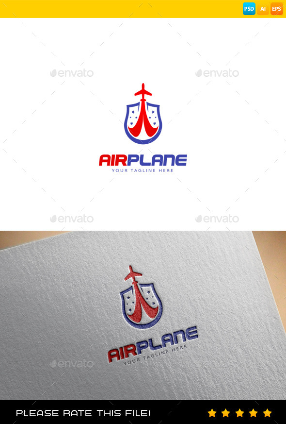 Airplane Logo - Objects Logo Templates