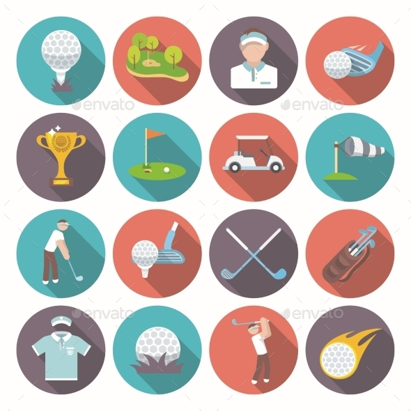 Golf Icons Set - Sports/Activity Conceptual