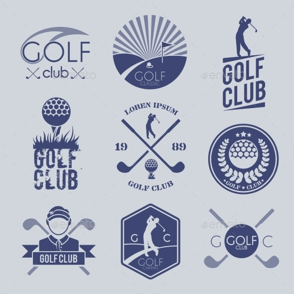 Golf Club Label - Sports/Activity Conceptual