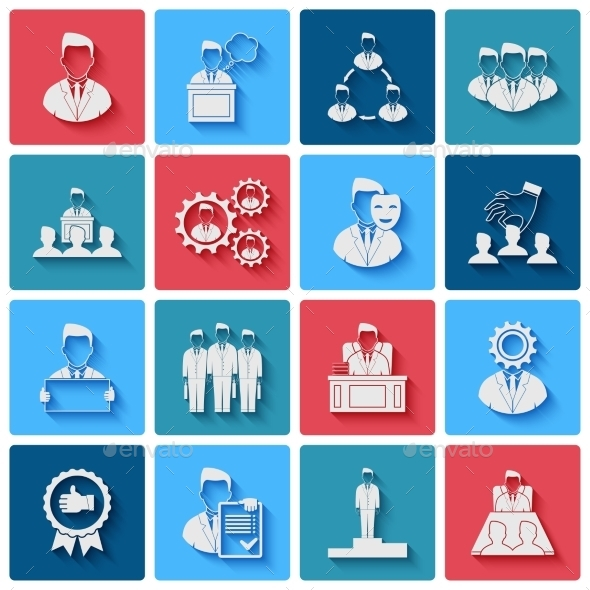 Executive Icons  - Web Elements Vectors