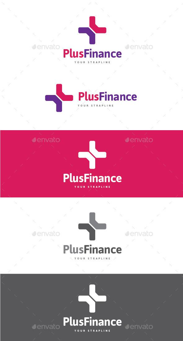 Plus Finance Logo - Symbols Logo Templates