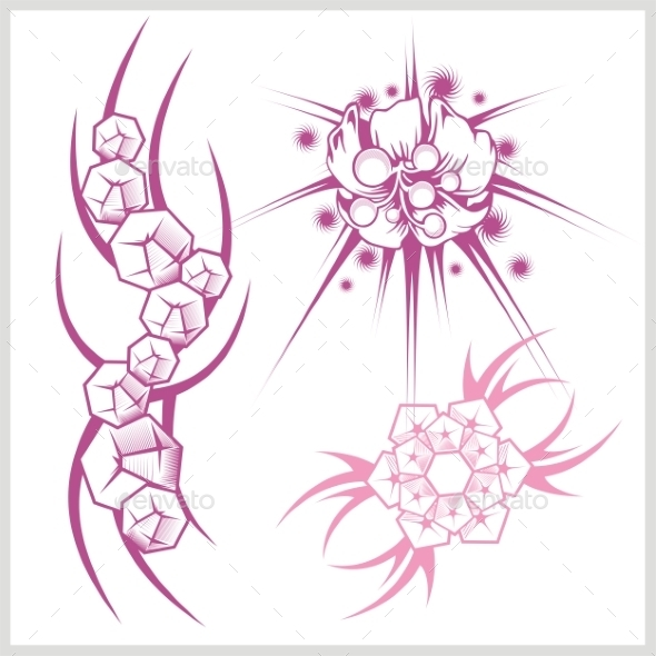 Flower Design for Tattoo - Patterns Decorative