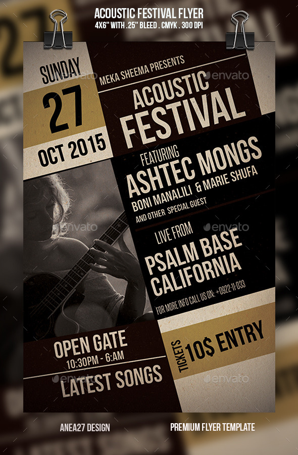 Acoustic Festival Flyer - Events Flyers