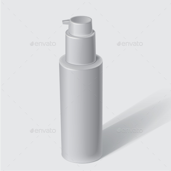 White Cosmetics Containers - Objects Vectors