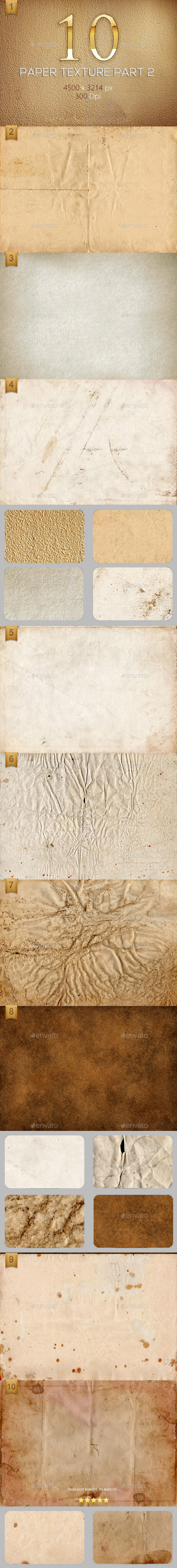 10 Paper Texture Part 2 - Textures
