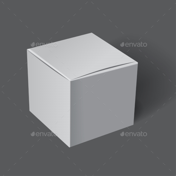 Template White Box - Objects Vectors