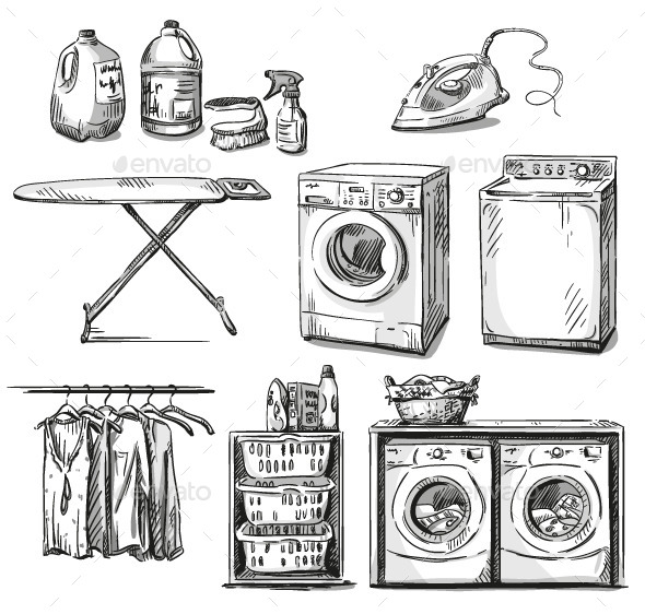 Laundry Objects - Man-made Objects Objects