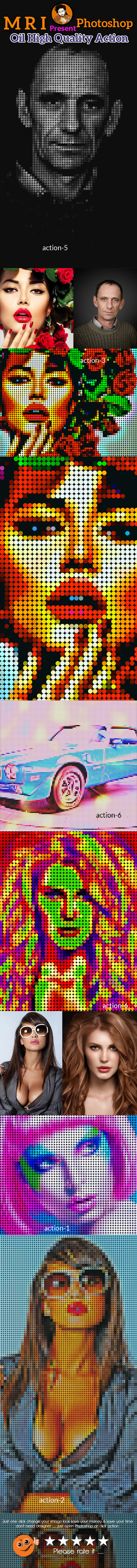 Pixel Art Revelation Action - Actions Photoshop