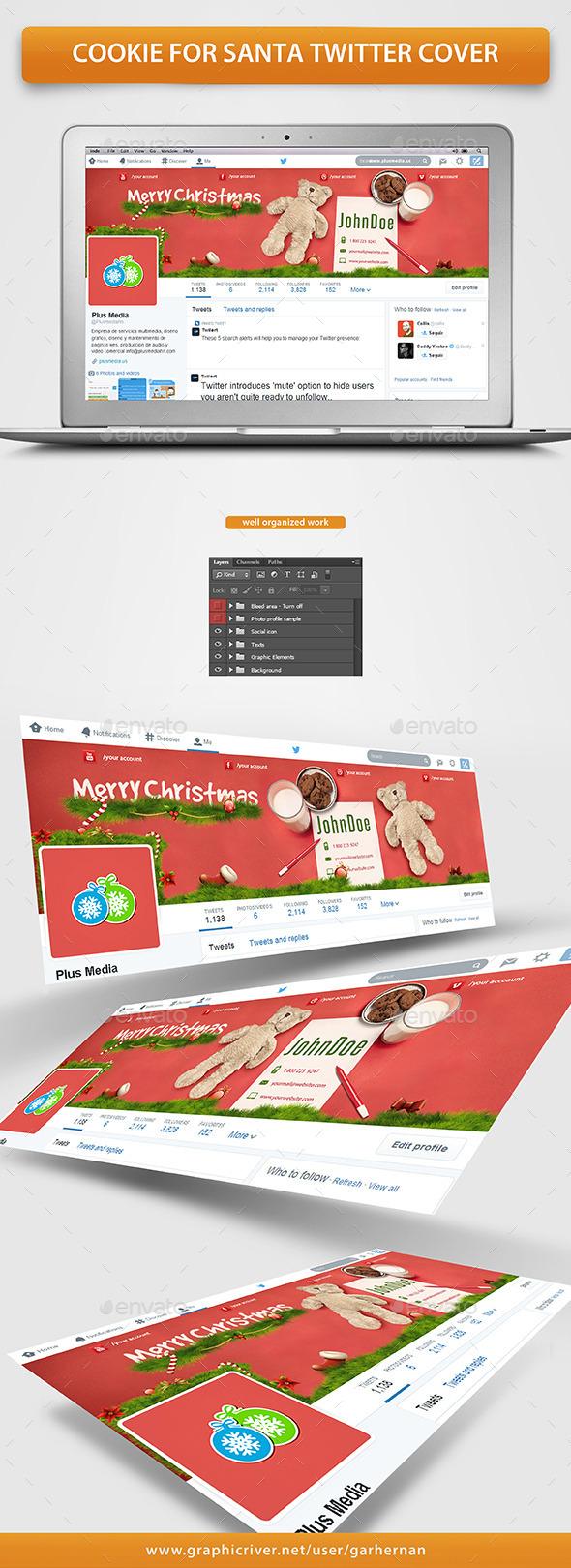 Cookie For Santa Twitter Cover - Twitter Social Media