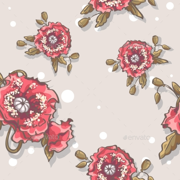 Poppies Pattern - Backgrounds Decorative