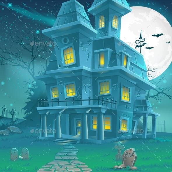 Haunted House Illustrations - Halloween Seasons/Holidays