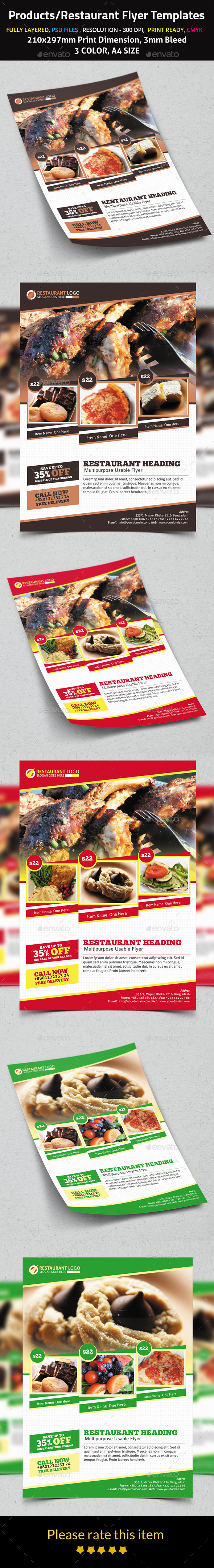 Products/Restaurant Flyer Templates - Flyers Print Templates